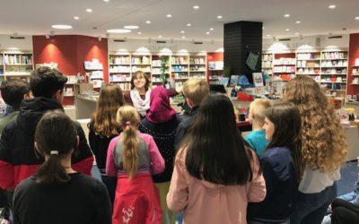 Klasse 5b zu Gast in der Buchhandlung Osiander